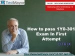 100% verified Question Answers for 1Y0-301 Exam
