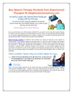 Speech Therapy Products