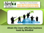 Learn the best tips of leads generation by Blindbid