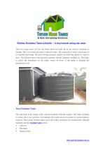 How are Rain Water Tanks Useful?