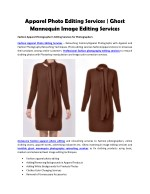 Fashion Apparel Photo Editing Services | Ghost Mannequin Image Editing Services