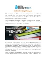 Online Printing Malaysia   Printing Services