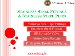 Stainless Steel Fittings  & Stainless Steel Pipes