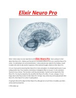 Elixir neuro pro - Relax your mood and avoid worries anytime