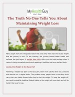 The Truth No One Tells You About Maintaining Weight Loss