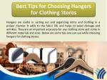 Best Tips for Choosing Hangers for Clothing Stores
