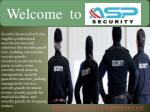 Welcome SecurityServices