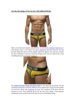 Get the advantage of two in one with Addicted Briefs