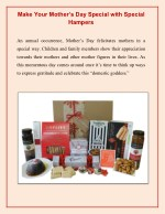 Make Your Mother's Day Special with Special Hampers