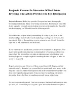 Benjamin Kermani The Basics Of Real Estate Investing For Novices And Experts