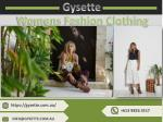 Grab the Best Variety of Designer Dresses in Australia - Gysette