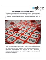 Facts About Online Bingo Game
