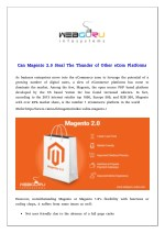 Can Magento 2.0 Steal The Thunder of Other eCom Platforms
