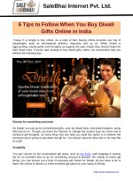 6 Tips to Follow When You Buy Diwali Gifts Online in India