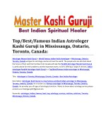 Kashi Astrologer - Top/Best/Famous Indian in Mississauga, Ontario, Toronto, Canada: