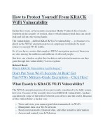 How to Stay Safe from KRACK Wi-Fi Vulnerability