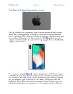The IPhone X: Apple's greatest phone!