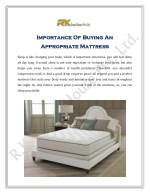 Importance Of Buying An Appropriate Mattress
