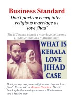Don't portray every inter-religious marriage as 'love jihad': Kerala HC
