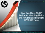 Get Latest HP HPE0-J80 Exam Questions
