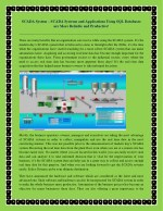 SCADA System – SCADA Systems and Applications Using SQL Databases are More Reliable and Productive!