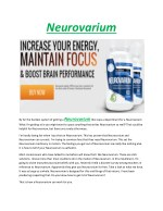 Neurovarium - Increasing brain power and ability to the individuals