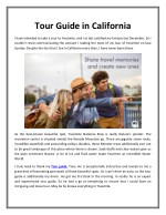 Tour Guide in California