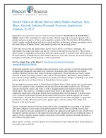 Stretch Sleeve & Shrink Sleeve Labels Market - Global Industry Analysis, Size, Share, Growth and Forecast Report To 2022