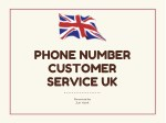 Phone Number customer service uk