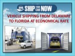 Reliable and full service to Ship my car: