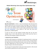 Mobile Marketing: Some App Store Optimization Tips IMediadesign