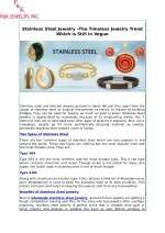 Stainless Steel Jewelry –The Timeless Jewelry Trend Which is Still in Vogue