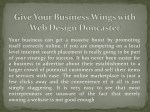 Give Your Business Wings with Web Design Doncaster