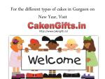 Send New Year Cake In Gurgaon via CakenGifts.in