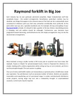 Raymond forklift in Big Joe