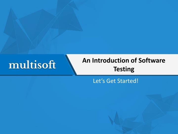 an introduction of software testing n.