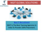 Best IT Training Services In In India