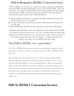 PSD to Responsive HTML5 Convert Services