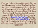 Crude Oil Tips Free Trial, Mcx Silver Tips, Intraday Trading Tips - Safal Trading