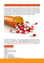 Buy Cheap Generic Antibiotic Drugs Online
