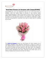 Send Best Flowers to Gurgaon with [happySTEMS]