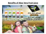 Benefits of Aloe Vera Fruit Juice