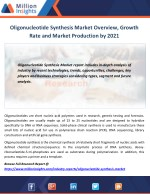 Oligonucleotide Synthesis Market Overview, Growth Rate and Market Production by 2021