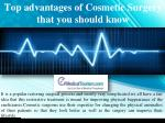 Top advantages of Cosmetic Surgery that you should know