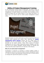 Utility of Project Management Training