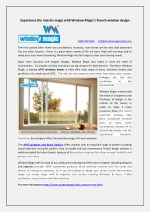 Experience the Interior magic with Window Magic's French Window Design