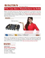 PNG Gas Stove Manufacturer in Delhi