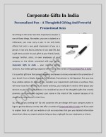 Personalized Pen–A Thoughtful Gifting And Powerful Promotional Item
