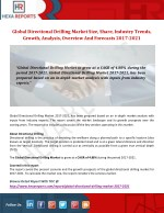 Directional Drilling Market - Overview And Forecast, 2017-2021: Hexa Reports