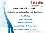Industrial Vave India, manufacturer, exporter in india